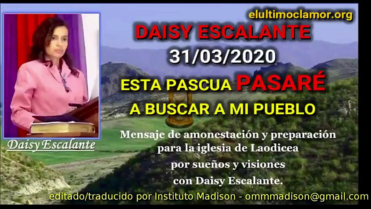 EN   Daisy Escalante 31 03 2020 THIS PASSOVER I WILL PASS IN REVIEW MY PEOPLE