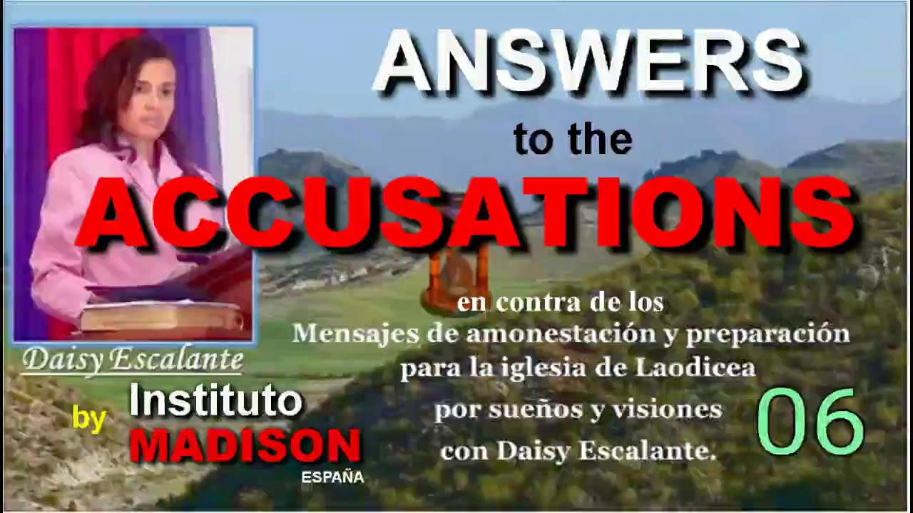 06 ANSWERS TO ACCUSATIONS There is one minute left