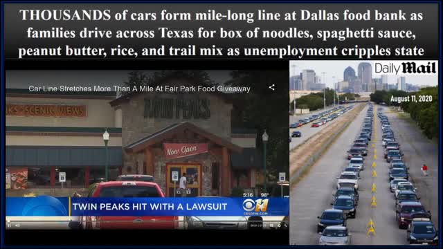 Desperate Long Lines Have Emerged THOUSANDS Of Cars Form Mile Long Line At Dallas Food Bank 720p