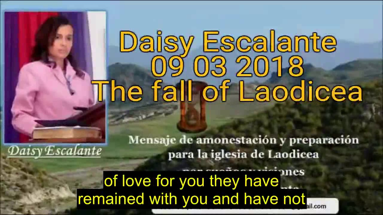 EN - VISIONS OF THE END - Daisy Escalante - 09th 03 2018 SDA out of the cities